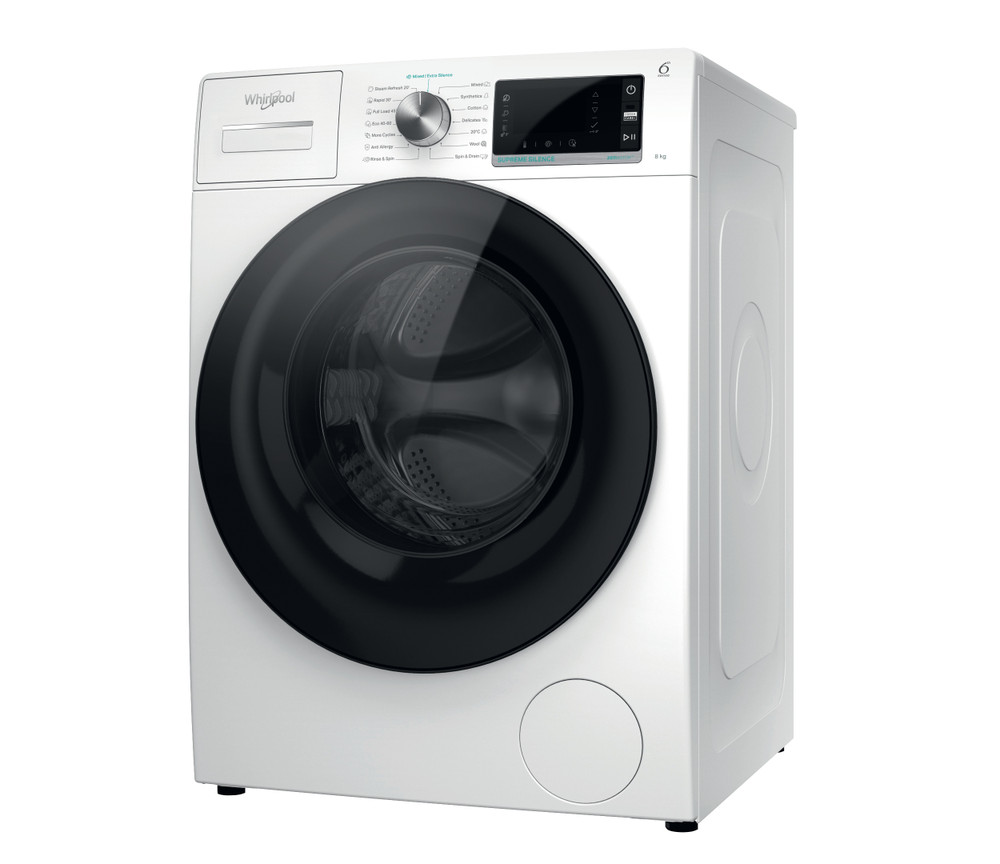 Whirlpool Перална машина Свободностоящи W6X W845WB EE Бял Предно зареждане B Perspective