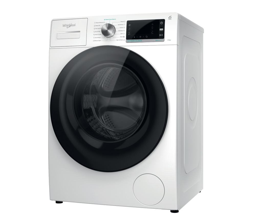 Whirlpool Washing machine Samostojeća W6X W845WB EE Bela Prednje punjenje Perspective