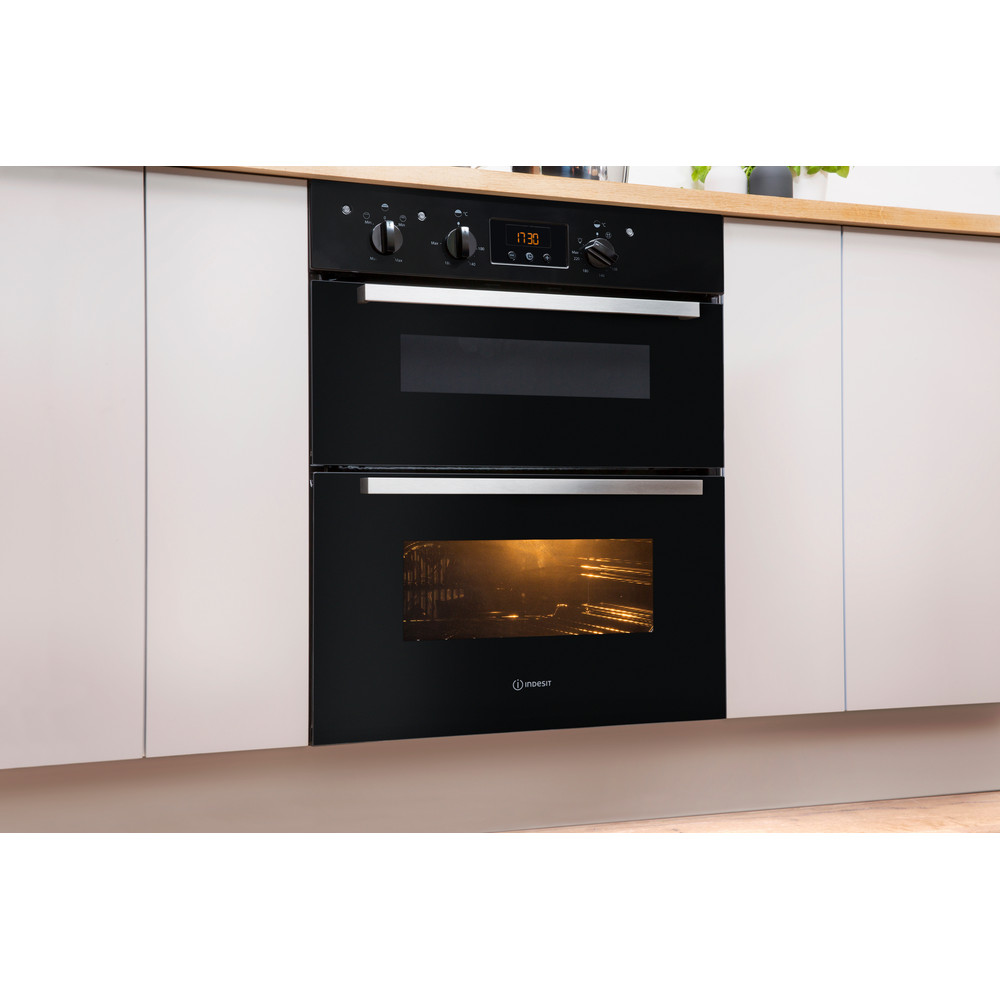 Indesit Double oven IDU 6340 BL Black B Lifestyle perspective