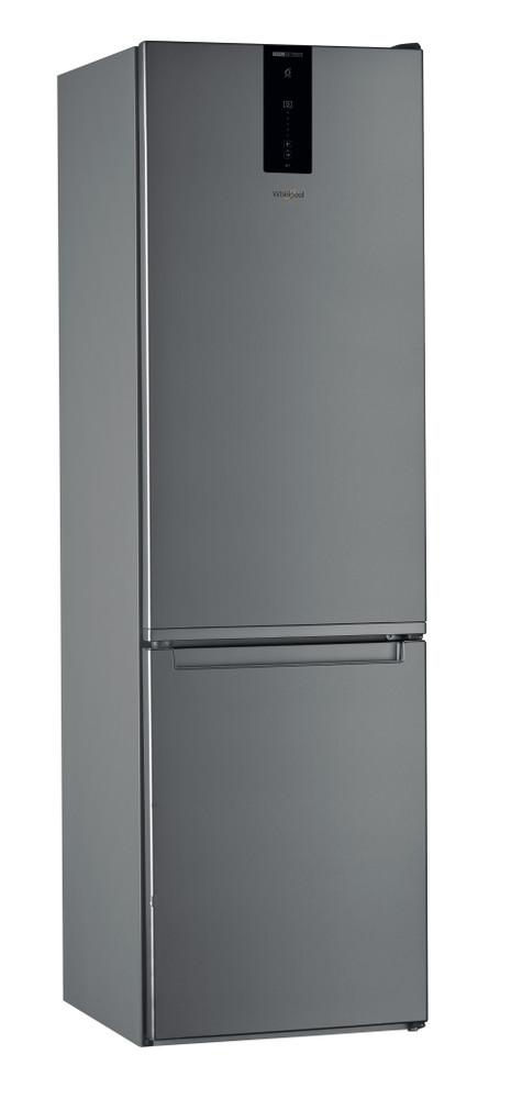 """Whirlpool Šaldytuvo / šaldiklio kombinacija Laisvai pastatomas W7 921O OX """"Optic Inox"""" 2 doors Perspective"""