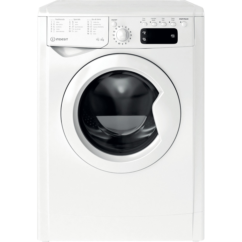 Indesit Washer dryer Free-standing IWDD 75125 UK N White Front loader Frontal