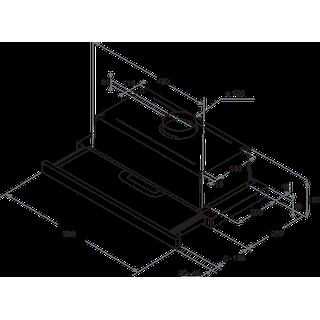 Indesit Odsavač par Vestavné H 461 X/1 H2G Nerez Vestavné Mechanické Technical drawing