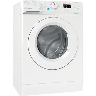 Indesit Veļas mazgājamā mašīna Brīvi stāvošs BWSA 71251 W EE N Balts Priekšējās ielādes E Perspective