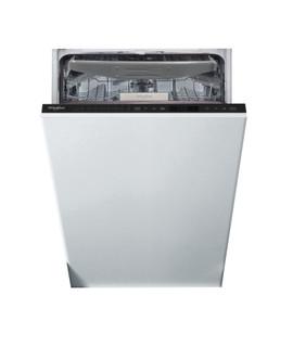 Whirlpool beépíthető mosogatógép: fekete szín., keskeny - WSIP 4O33 PFE