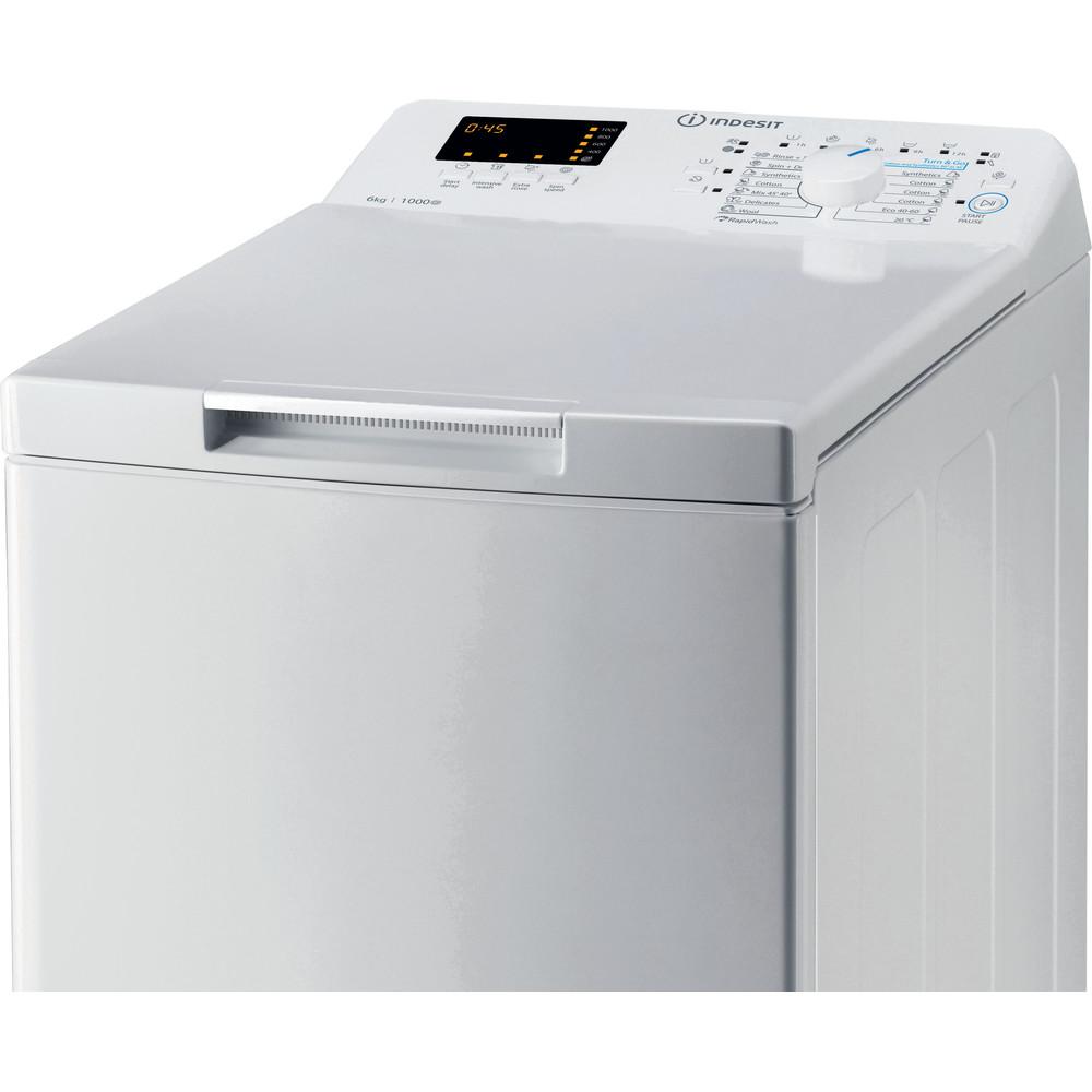Indsit Maşină de spălat rufe Independent BTW S60300 EU/N Alb Încărcare Verticală D Control panel