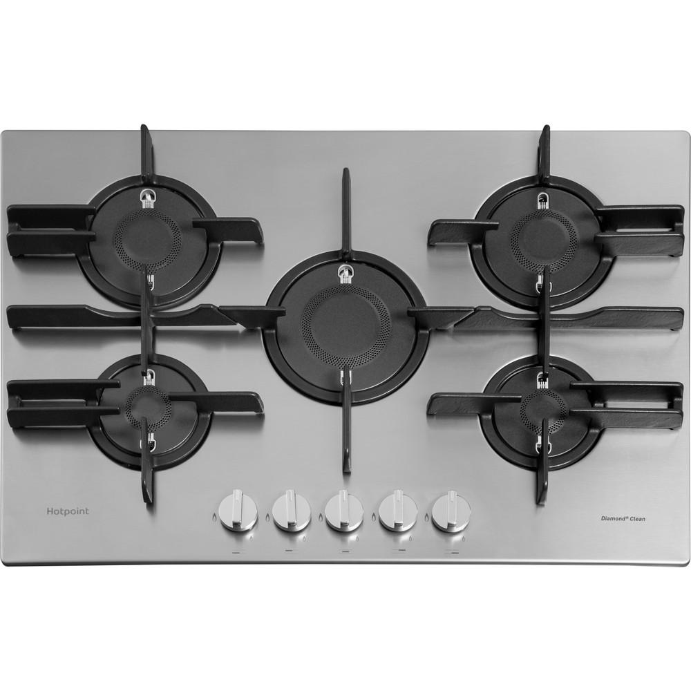 Hotpoint_Ariston Piano cottura FTGHL 751 D/EX/HA Inox GAS Frontal