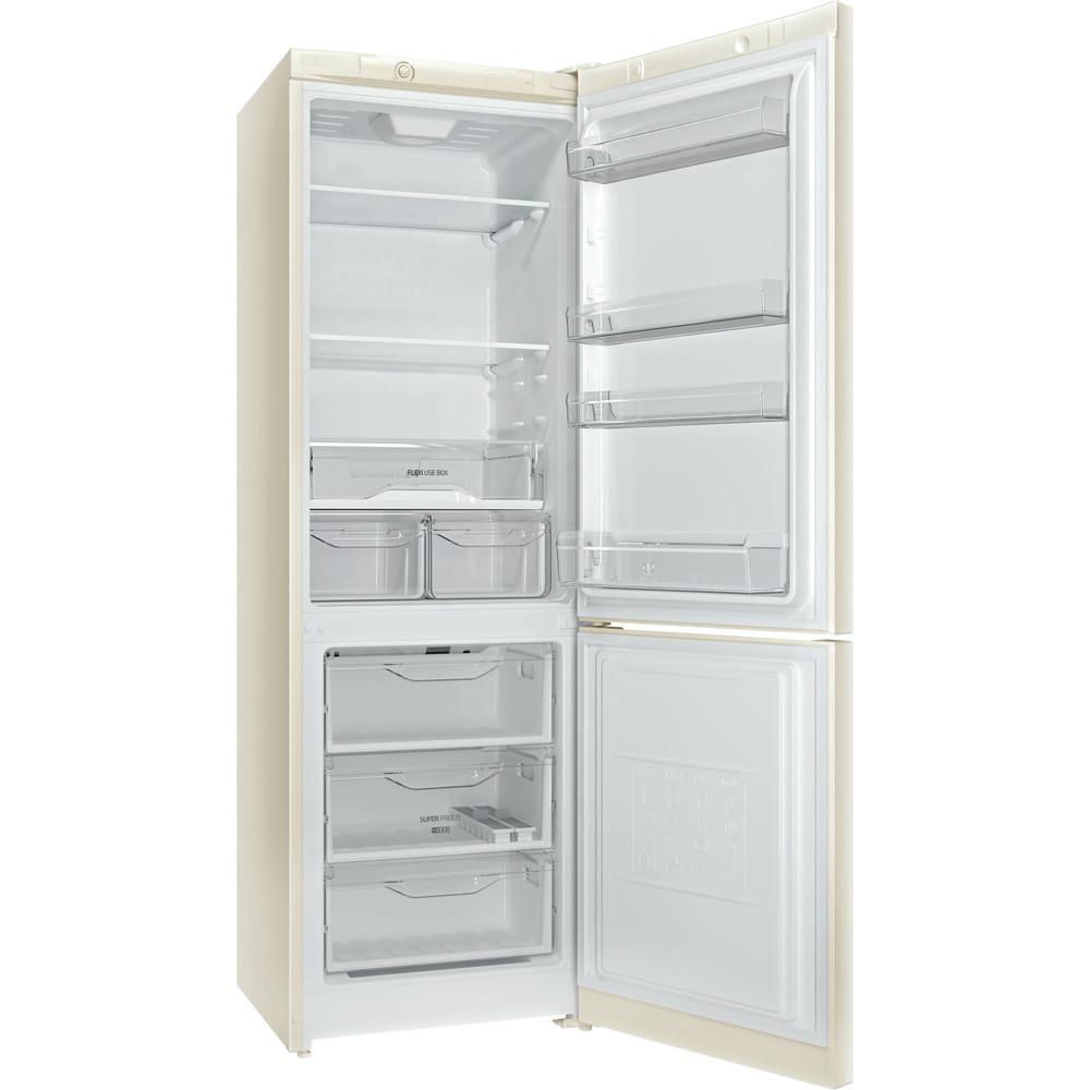 Indesit Холодильник с морозильной камерой Отдельностоящий DS 4180 E Розово-белый 2 doors Perspective open