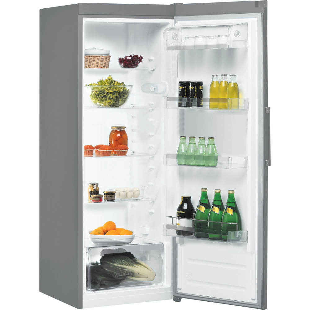 Indesit Refrigerator Free-standing SI6 1 S UK.1 Silver Perspective open