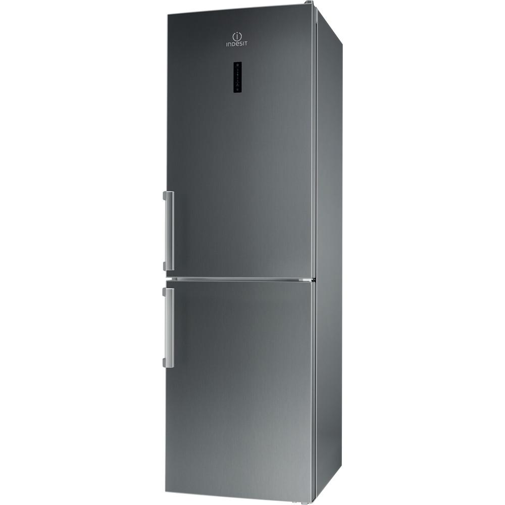 Indesit Kombinacija hladnjaka/zamrzivača Samostojeći LI8 FF2O X H Inox 2 doors Perspective
