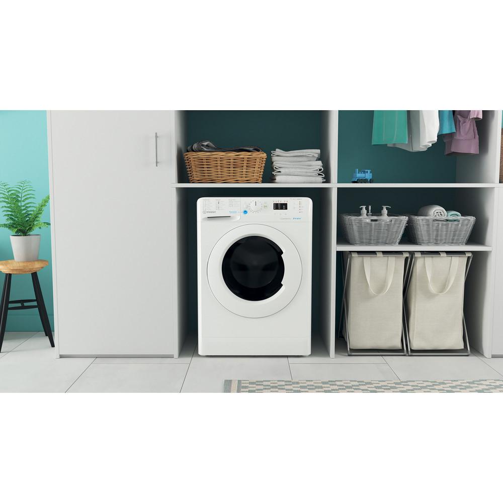 Indesit Pračka se sušičkou Volně stojící BDA 761483X W EE N Bílá Front loader Lifestyle frontal