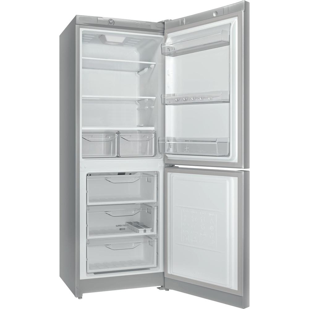 Indesit Холодильник с морозильной камерой Отдельностоящий DS 4160 S Серебристый 2 doors Perspective open