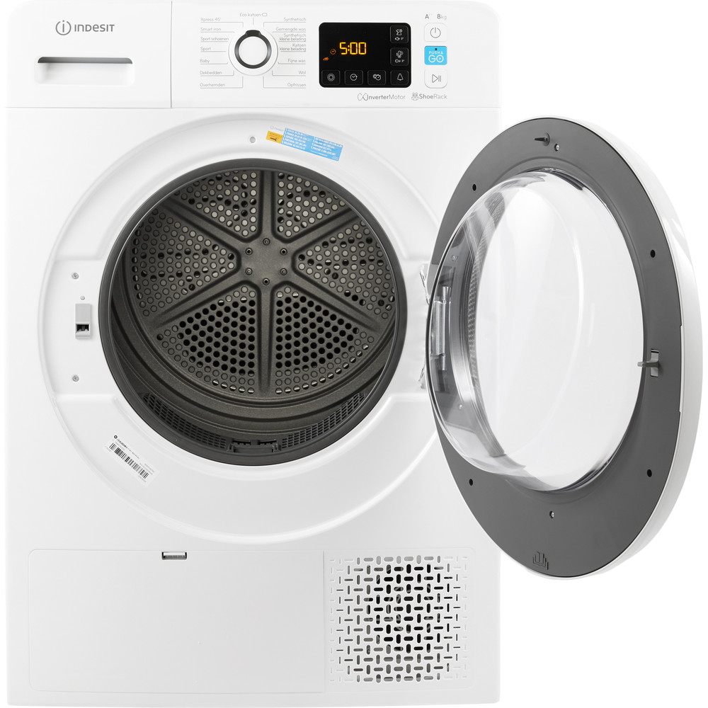 Indesit Droger YTNL M11 82K RX Wit Frontal open