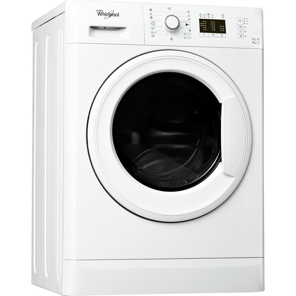 Lavasecadora de libre instalación Whirlpool: 7kg - WWDE 7512