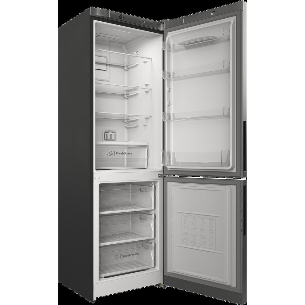 Indesit Холодильник с морозильной камерой Отдельностоящий ITR 4180 S Серебристый 2 doors Perspective open