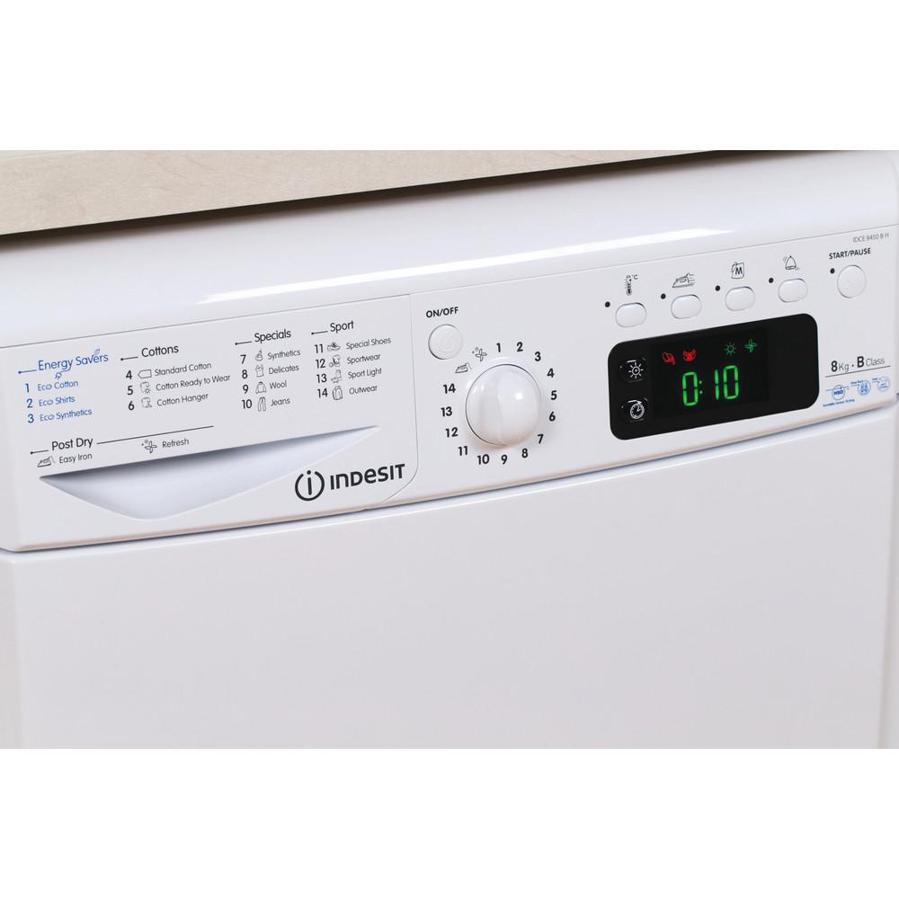 Indesit Dryer IDCE 8450 B H (UK) White Lifestyle control panel