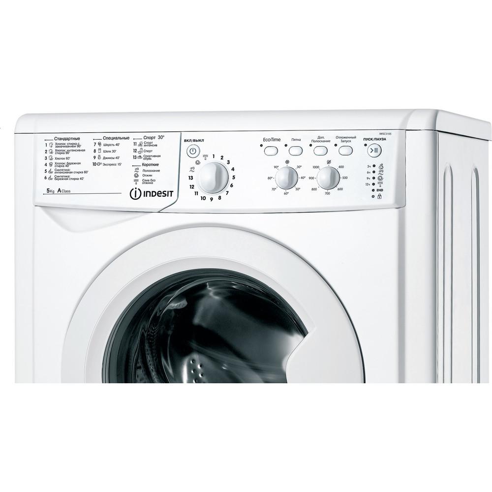 Indesit Стиральная машина Отдельностоящий IWSC 5105 (CIS) Белый Фронтальная загрузка A Control panel