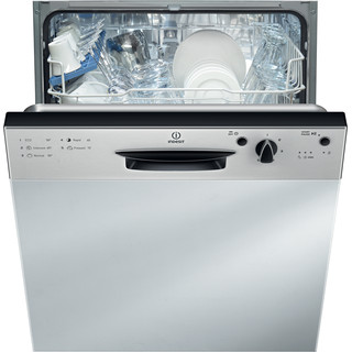 Indesit Dishwasher Built-in DPG 15B1 NX UK Half-integrated F Frontal