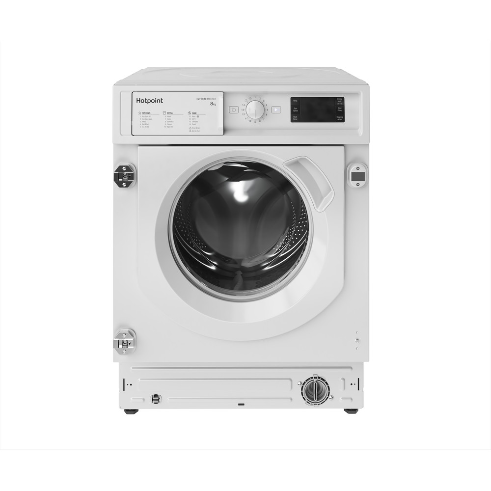Hotpoint Washing machine Built-in BI WMHG 81484 UK White Front loader A+++ Frontal