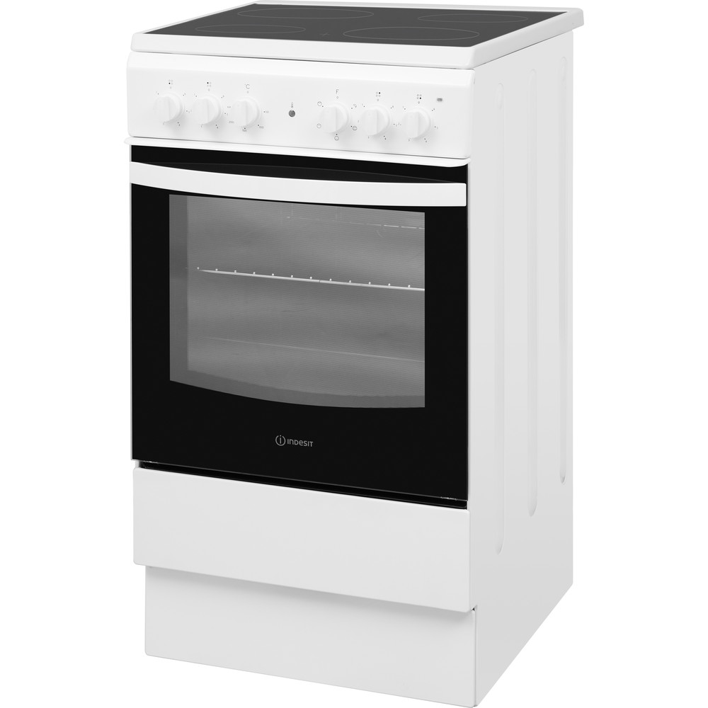 Indesit Cooker IS5V4KHW/UK White Electrical Perspective