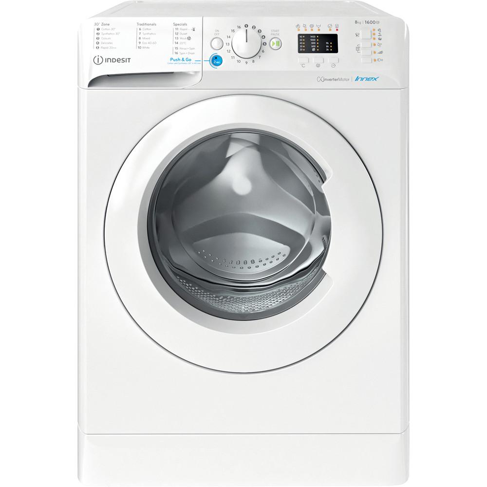 Indesit Washing machine Free-standing BWA 81683X W UK N White Front loader D Frontal