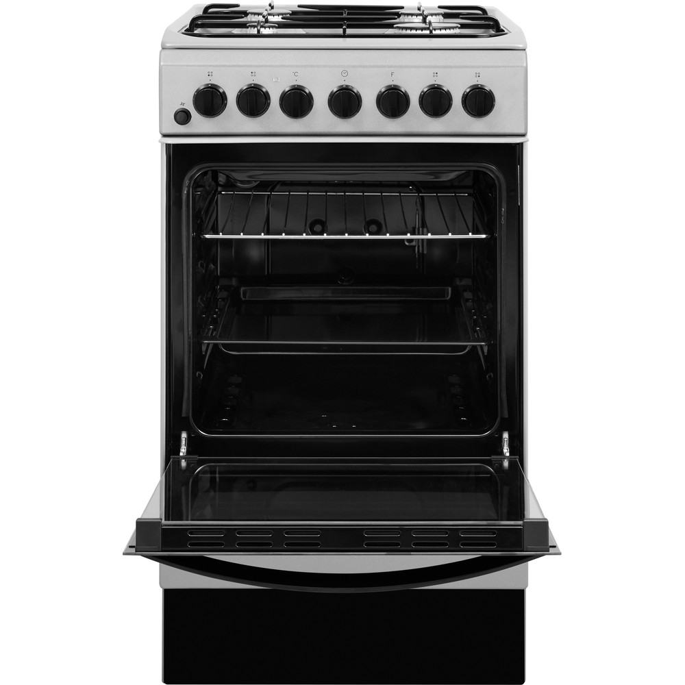 Indesit Cooker IS5G4PHSS/UK Inox GAS Frontal open