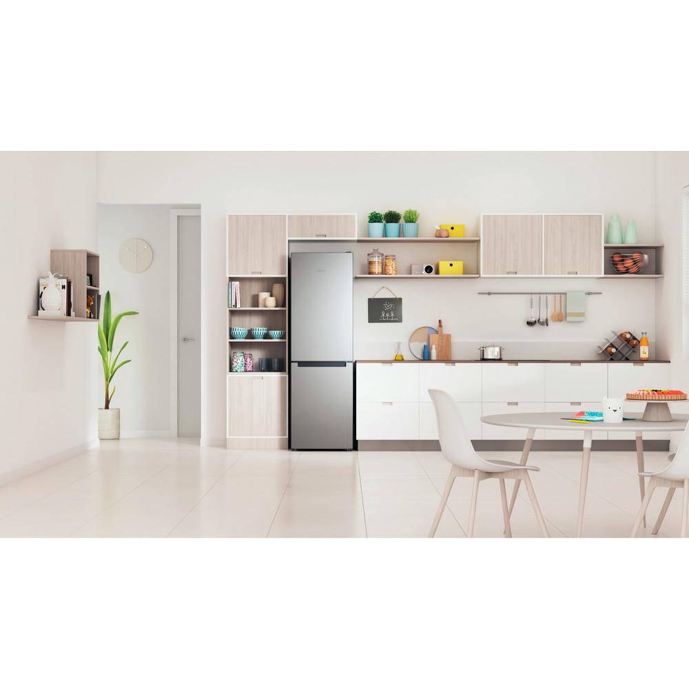 Indesit Combinación de frigorífico / congelador Libre instalación INFC8 TA23X Inox 2 doors Lifestyle frontal