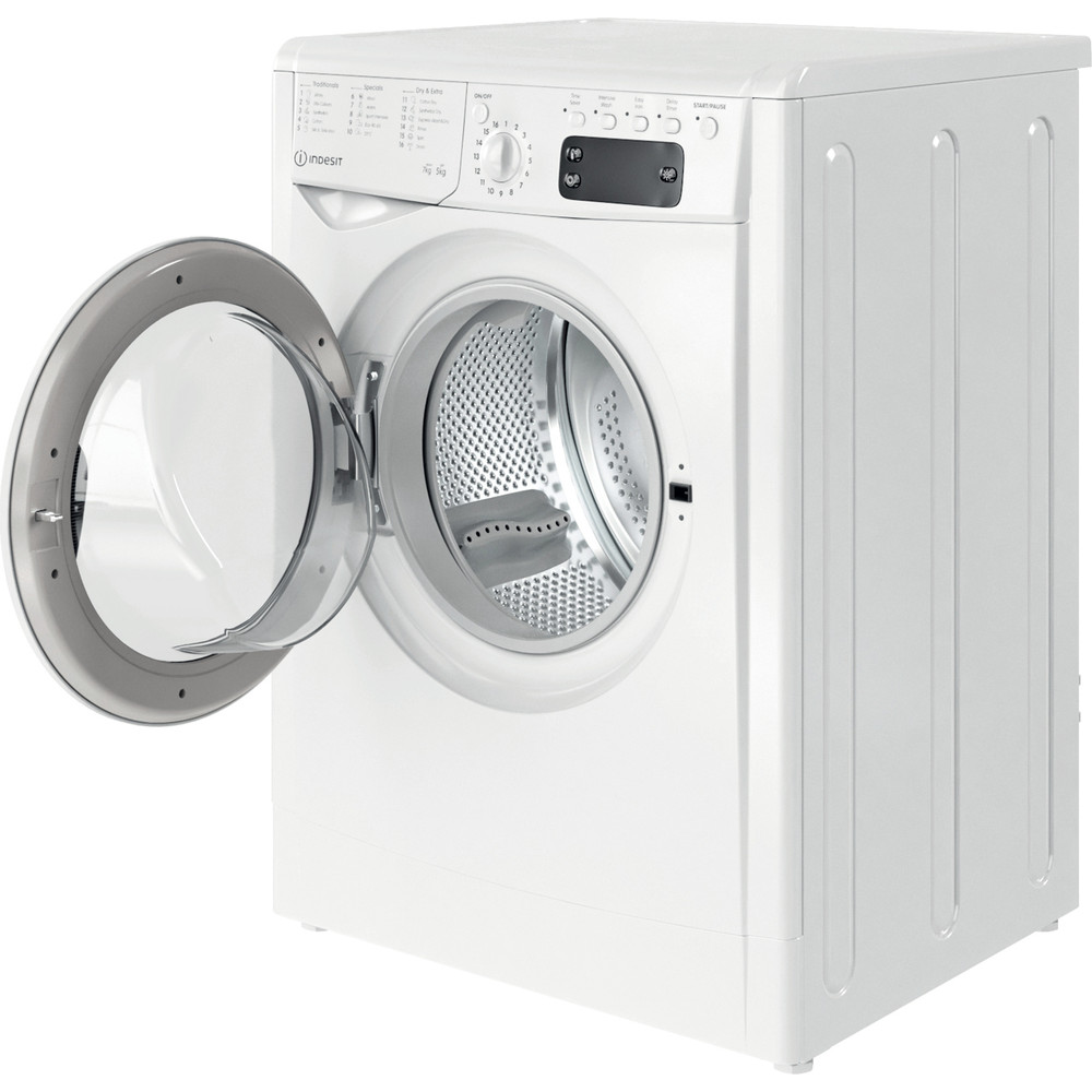 Indesit Washer dryer Free-standing IWDD 75145 UK N White Front loader Perspective open