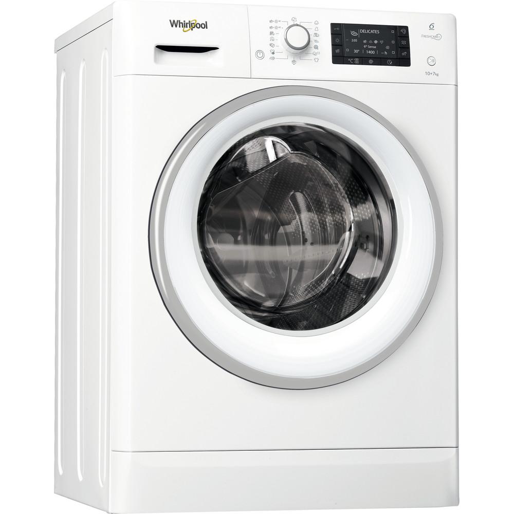 Whirlpool frittstående vask/tørk: 10 kg - FWDD1071681WS EU