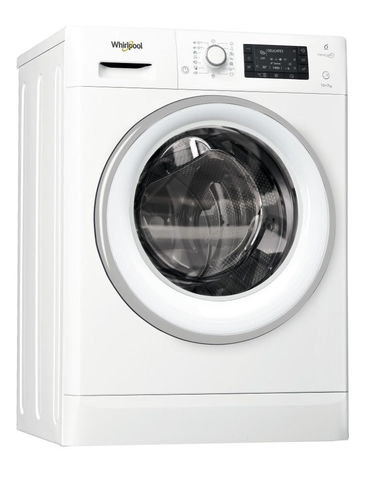 Whirlpool Kuivaava pesukone Vapaasti sijoitettava FWDD1071681WS EU Valkoinen Edestä täytettävä Perspective