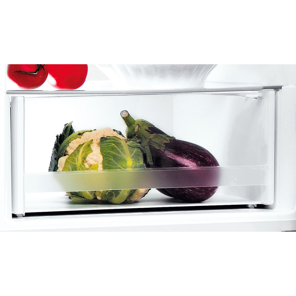Indesit Réfrigérateur combiné Pose-libre LI8 SN2E X Argent 2 portes Drawer