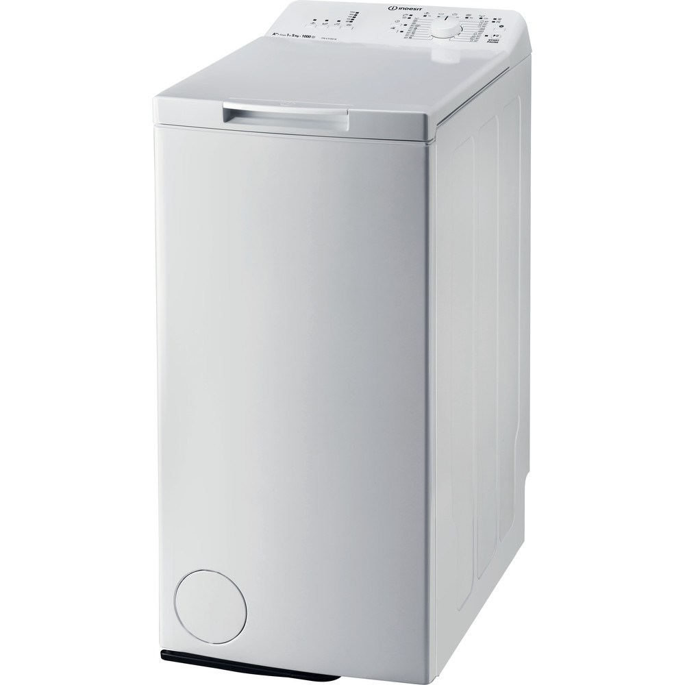 Indesit Пральна машина Соло ITWA 51052 W (UA) Білий Top loader A++ Perspective