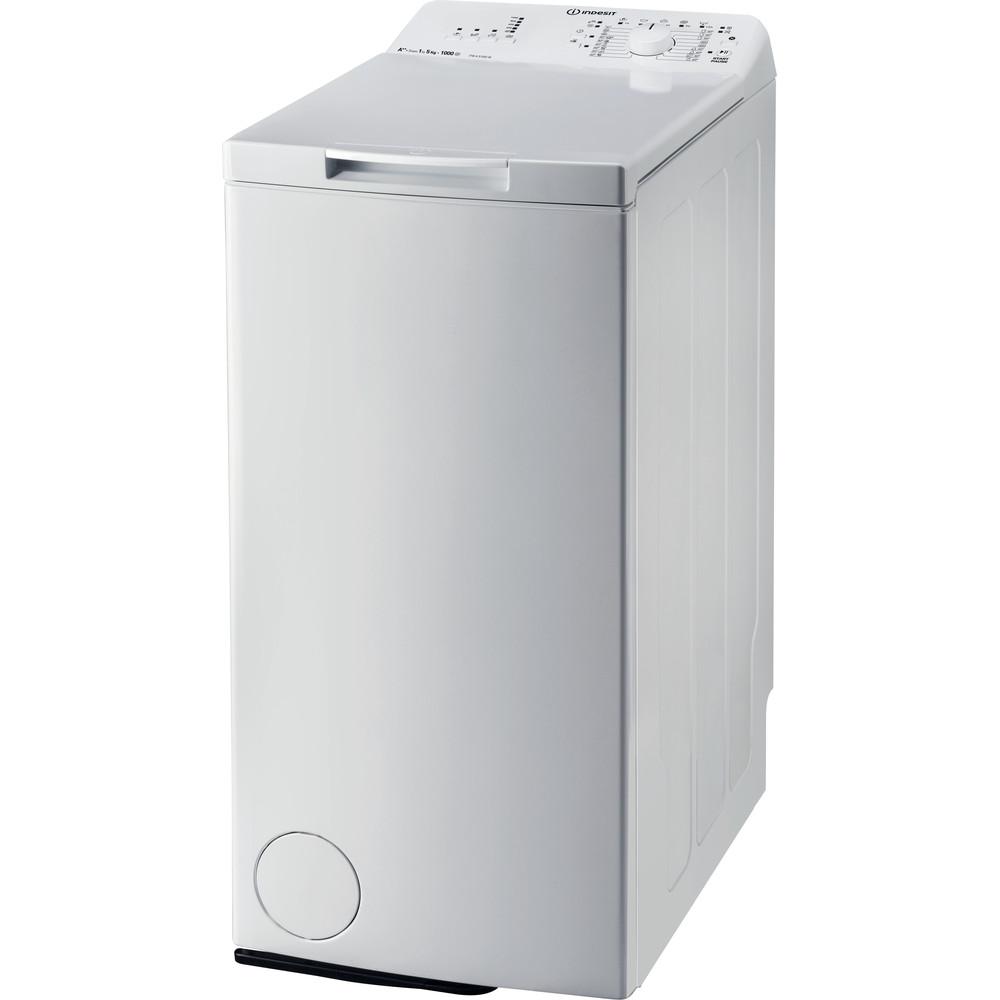 Indesit Стиральная машина Отдельно стоящий ITWA 51052 W (UA) Белый Top loader A++ Perspective