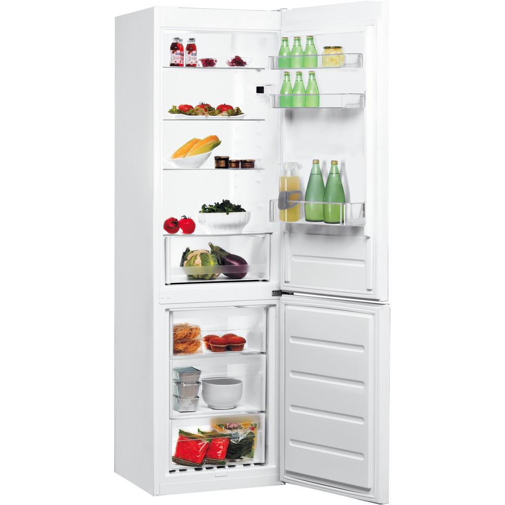 Indesit Réfrigérateur combiné Pose-libre LI8 S2E W Blanc 2 portes Perspective open