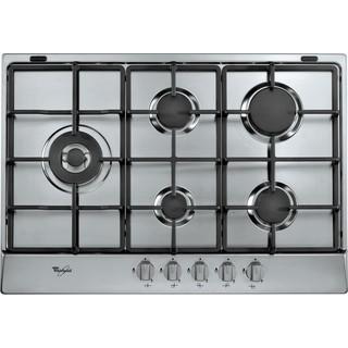Taque de cuisson au gaz AKR 3290/IX Whirlpool - Encastrable - 5 brûleurs gaz