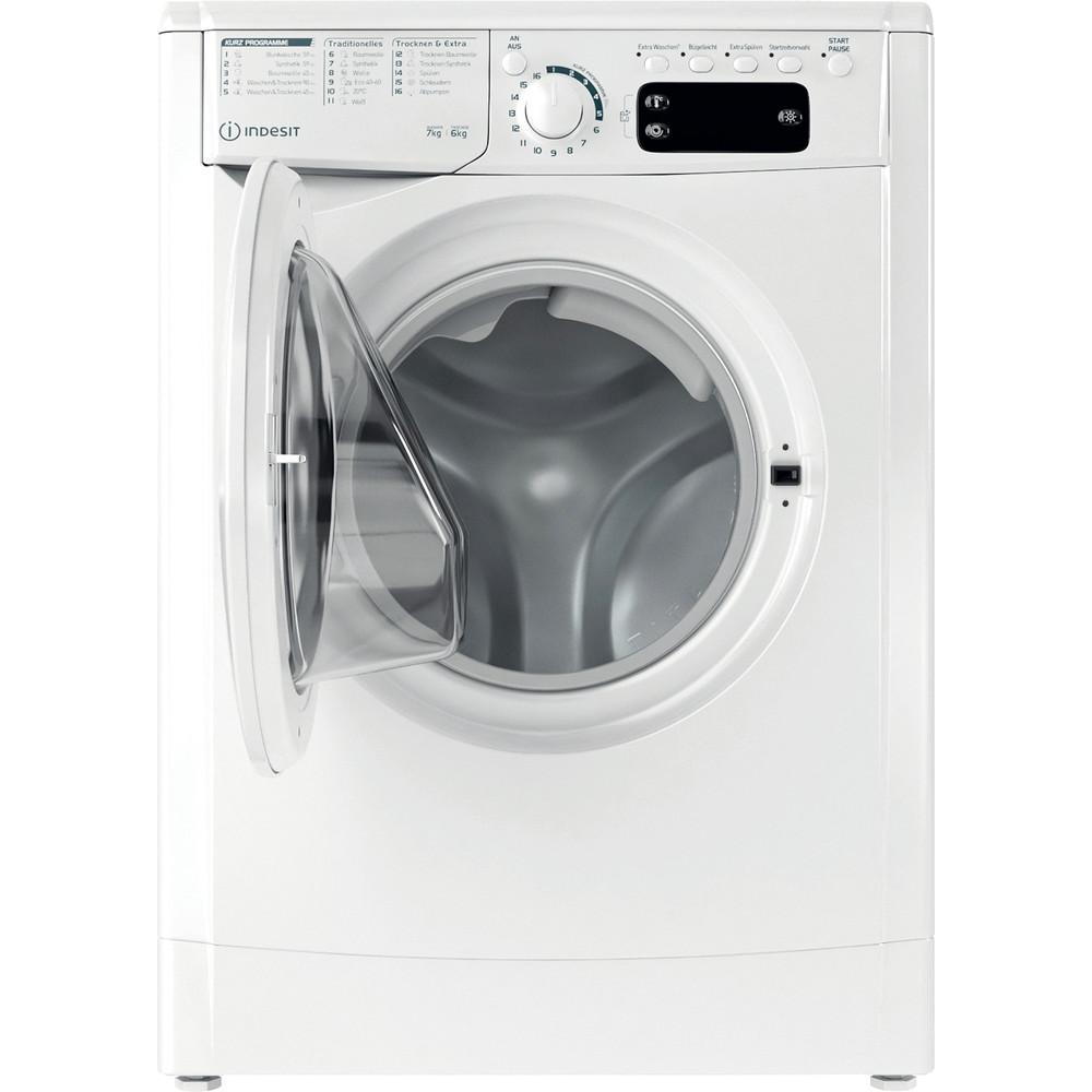 Indesit Waschtrockner Freistehend EWDE 761483 W DE N Weiß Frontlader Frontal open