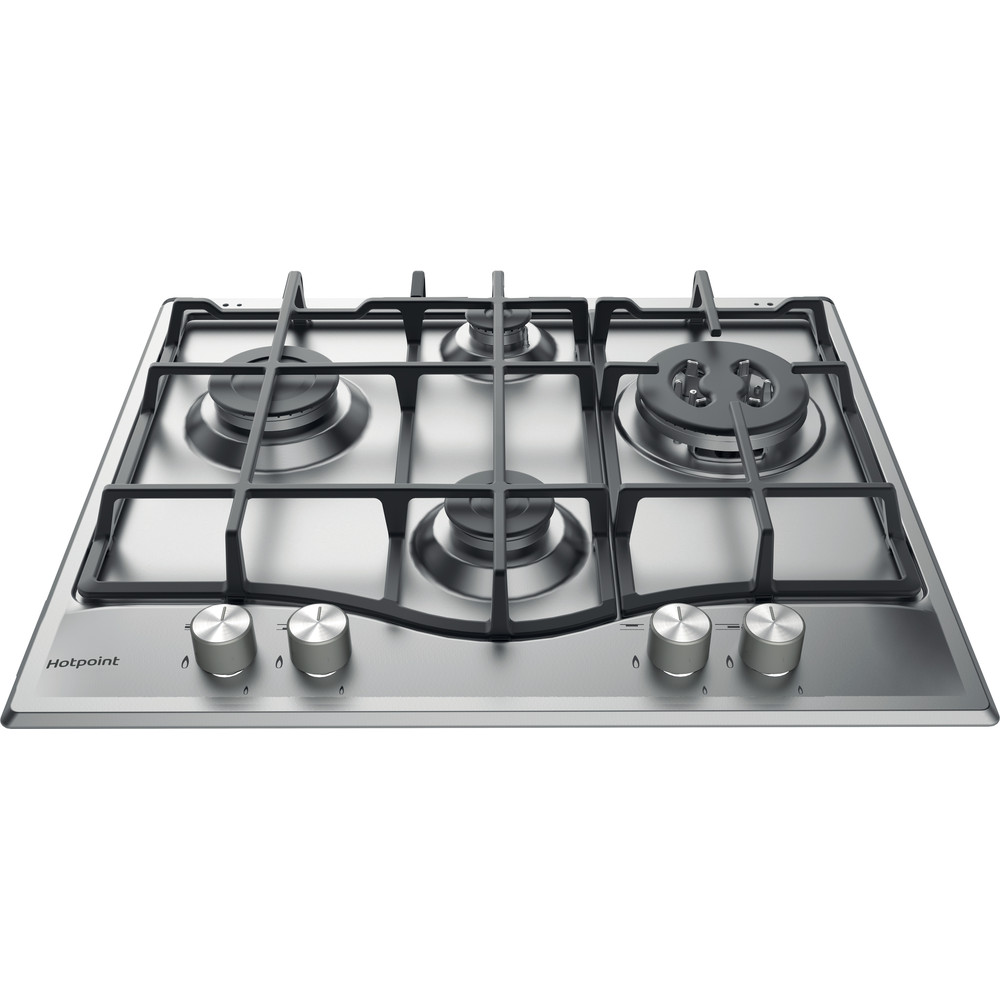 Hotpoint HOB PCN 641 T/IX/H Inox GAS Frontal_Top_Down