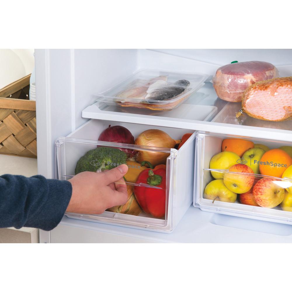 Indesit Fridge-Freezer Combination Free-standing IBD 5517 W UK 1 White 2 doors Drawer