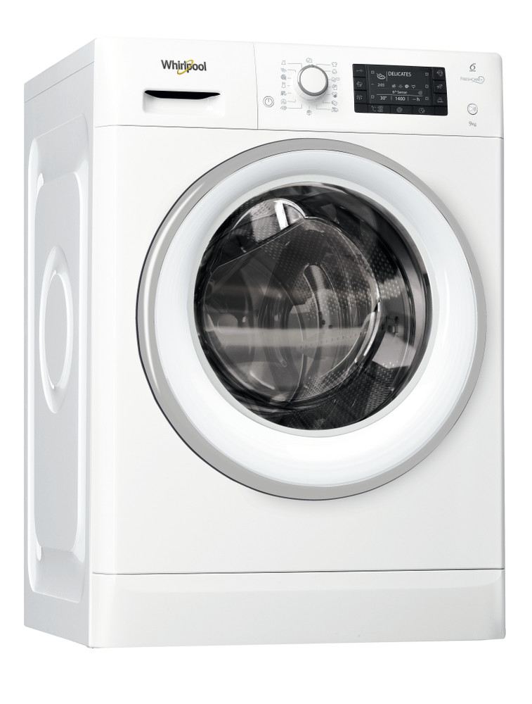 Whirlpool Waschmaschine Standgerät FWD91496WSE EU Weiss Frontlader A+++ Perspective