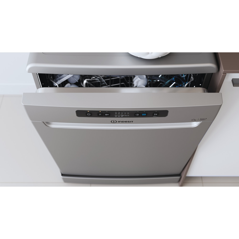 Indesit Dishwasher Free-standing DFC 2B+16 S UK Free-standing F Lifestyle control panel