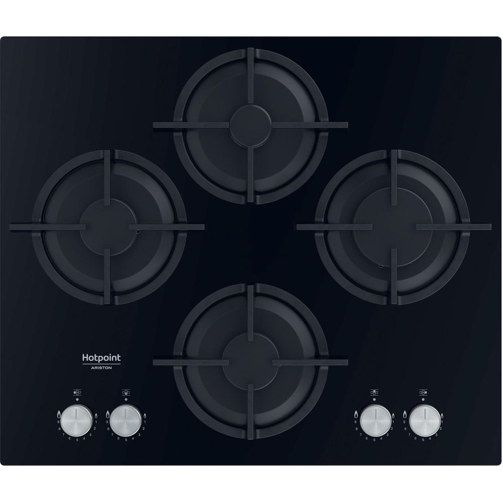 Hotpoint_Ariston Table de cuisson HAGS 61S/BK Noir Gaz Frontal