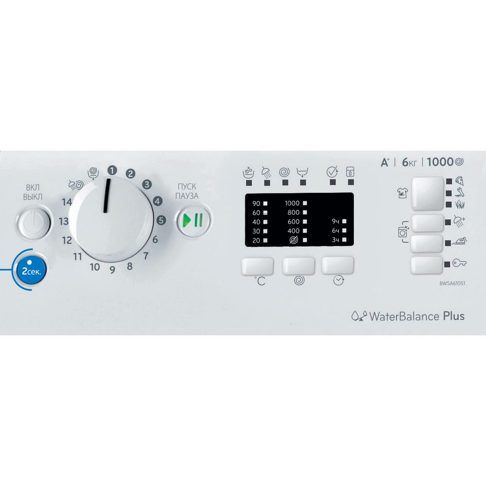 Indesit Стиральная машина Отдельностоящий BWSA 61051 S Белый Фронтальная загрузка A Control_Panel