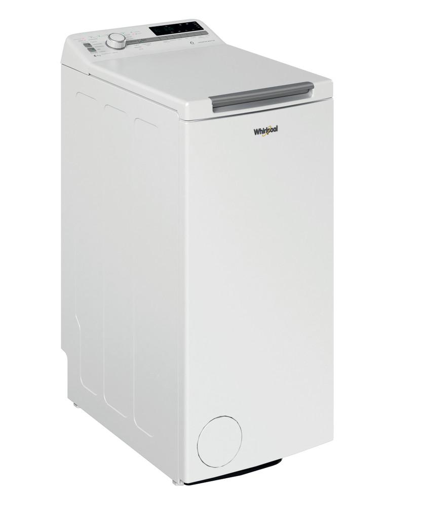 Whirlpool Pesukone Vapaasti sijoitettava TDLR 6241BS FN/N Valkoinen Päältä täytettävä C Perspective