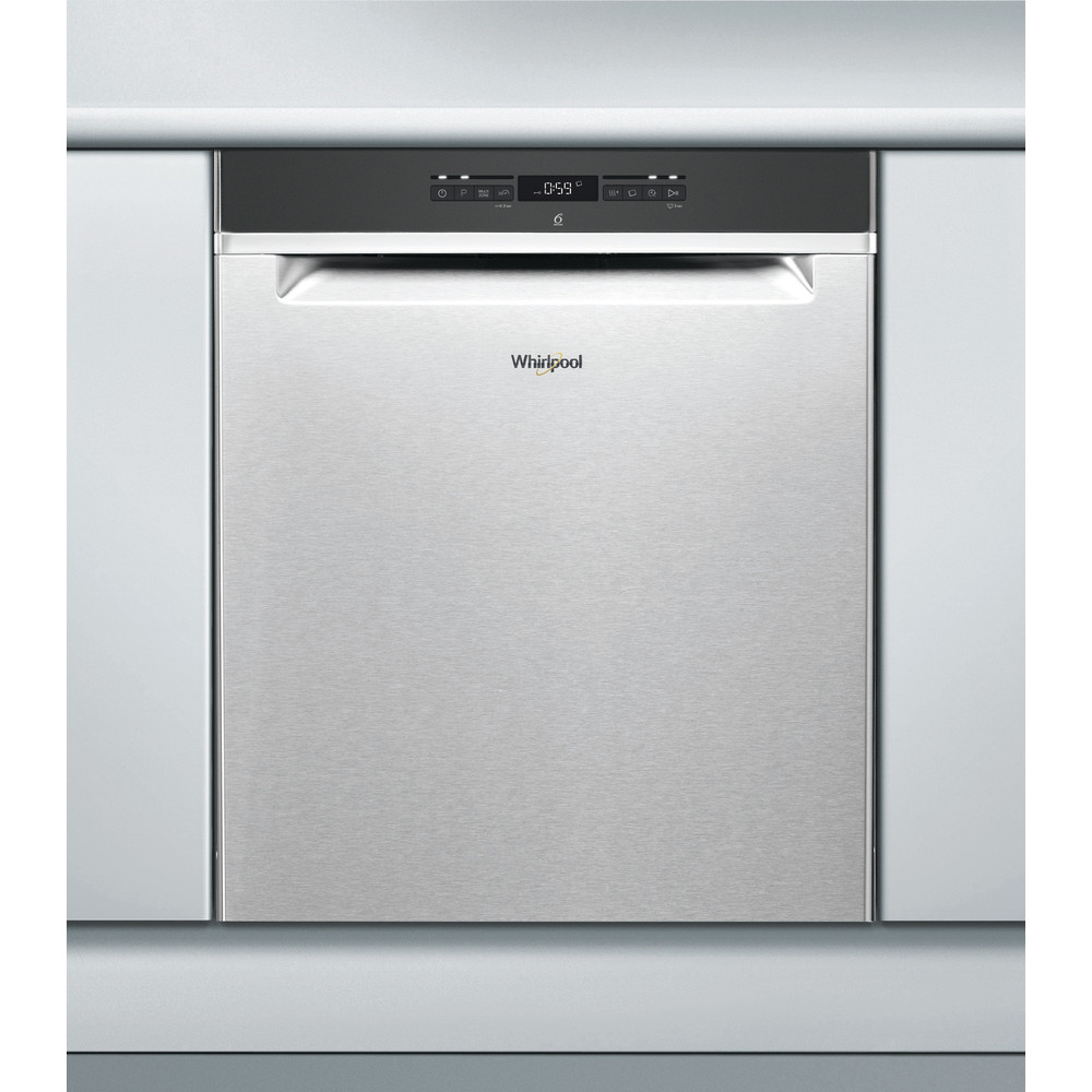 Whirlpool oppvaskmaskin: farge stål, 60 cm - WUO 3T321 X