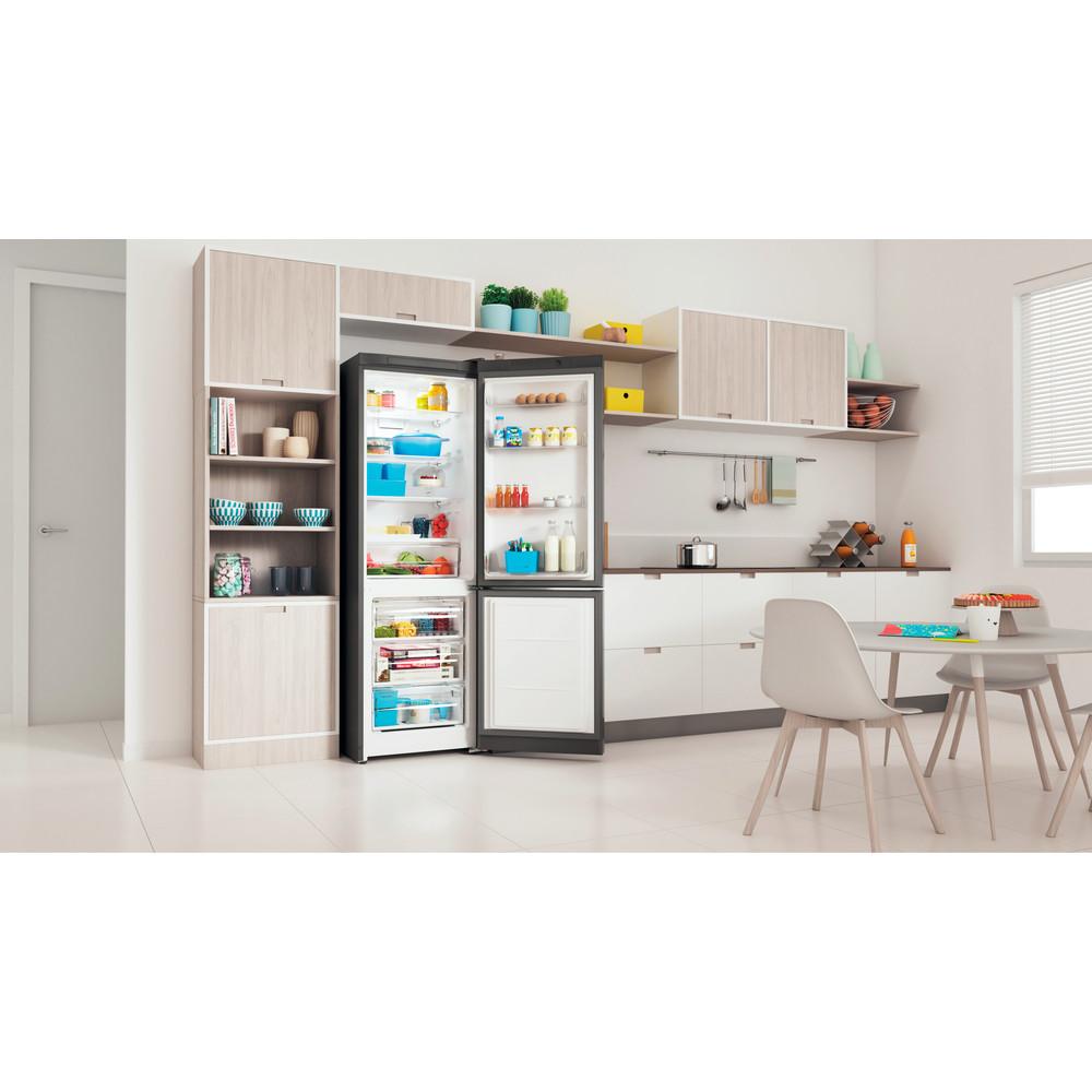 Indesit Холодильник з нижньою морозильною камерою. Соло ITI 5181 S UA Сріблястий 2 двері Lifestyle perspective open