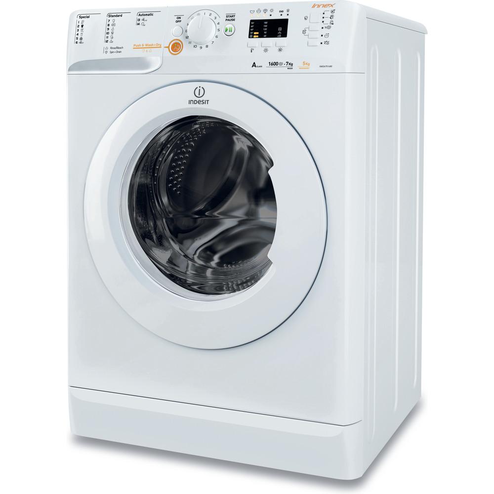 Indesit Стиральная машина с сушкой Отдельностоящий XWDA 751680X W EU Белый Фронтальная загрузка Perspective