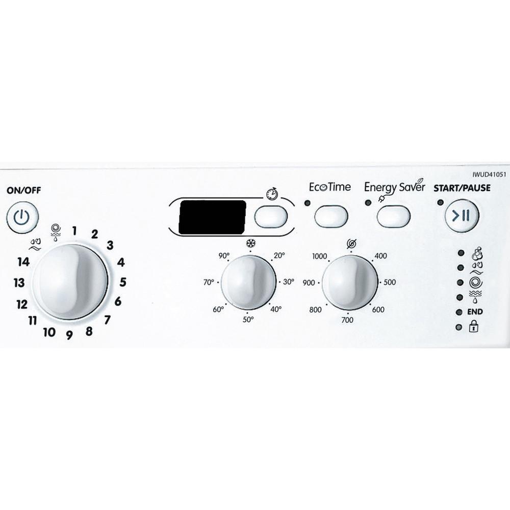 Indesit Lavabiancheria A libera installazione IWUD 41051 C ECO EU Bianco Carica frontale A+ Control_Panel