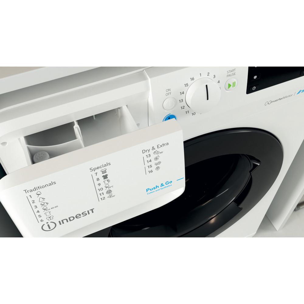 Indesit Tvättmaskin med torktumlare Fristående BDE 1071482X WK EU N White Front loader Drawer