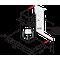 Whirlpool väggmonterad köksfläkt - WHBS 92F LT K
