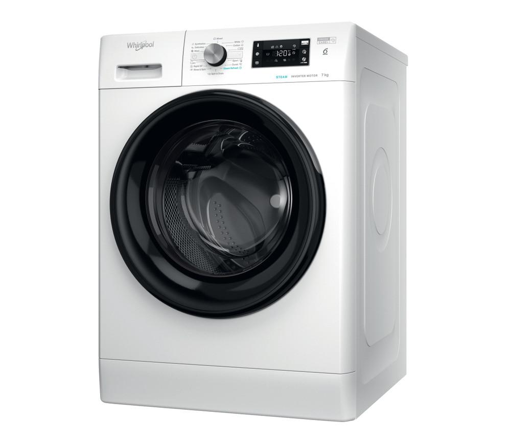 Whirlpool Перална машина Свободностоящи FFB 7238 BV EE Бял Предно зареждане D Perspective