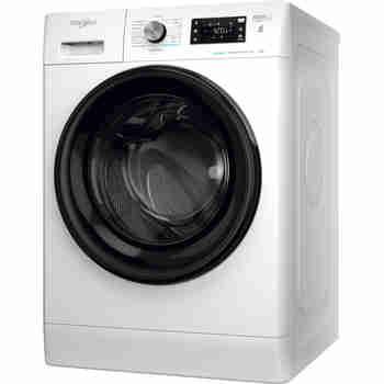 Whirlpool Maşină de spălat rufe Independent FFB 7438 BV EE Alb Încărcare frontală D Perspective